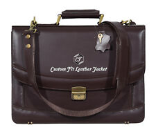Leather Bag For Laptop & Office Brown Real Glaze Leather 5996