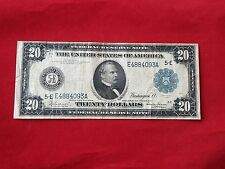 "FR-981  1914 Series ""Burke-Glass"" $20 Richmond Federal Reserve Note *F-VF*"