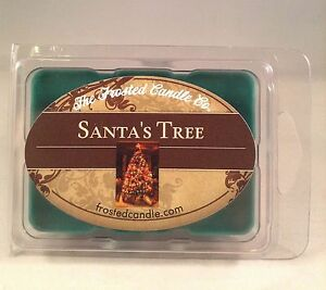Santa's Tree 2.5 oz Wax Melts One Package Christmas Fraser Fir Frosted Candle