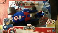 Playskool Heroes Marvel Super Hero Adventures Captain America's Victory Launc...