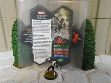 Heroscape Custom Black Cat Double Sided Card and Figure w/ Sleeve Marvel