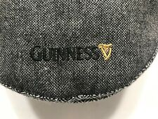 VINTAGE Guinness(Tweed Flat Cap)Grey Traditional Irish Hat 100% Cotton Size MED