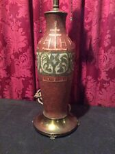 VINTAGE ART DECO PAIRPOINT DECORATED ART GLASS TABLE LAMP BASE