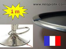1 mètre de protection pied de tabouret en métal inox : caoutchouc plastique noir
