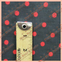 Small Polka Dot Poly Cotton Fabric 58 inches width sold by yard Black / Red