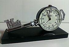 Vintage Alarm Clock SLAVA Key of Moscow Mechanical Ключ Москва USSR