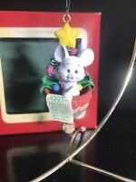 Carlton Cards Ornament A Little Bit of Christmas 4th in Series 1993 Mouse In Hat