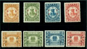 CHINA-YUNNAN #21-28, Two complete sets, unused no gum, VF, Scott $229.00