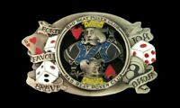Bad Beat Poker Club Dices Cards Gambling Belt Buckle Belts Buckles