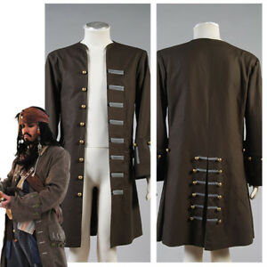 Pirates of the Caribbean Jack Sparrow Jacket Cosplay Costume Attire Coat