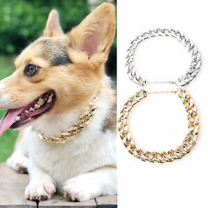 Adjustment Pet Dog Puppy Plastic Training Collar Chain Necklace Exy