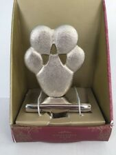 NEW CHRISTMAS STOCKING HOLDER CAT DOG PAW PRINT PET SILVER Heavy Duty