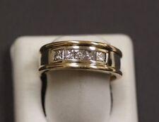 Men's 14 K Yellow Gold Diamond Band Ring Size 9.25