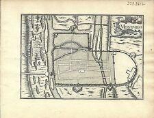 Antique map, Montargis