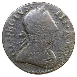 1776 George III Machin's Mills Colonial Copper Coin