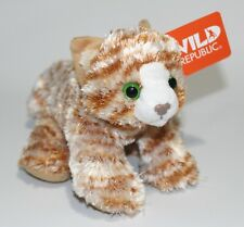 """Wild Republic ORANGE TABBY CAT Hug'ems 7"""" Floppy Plush Hugems Stuffed Kitten NEW"""
