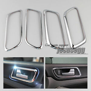 4Pcs Interior Inside Chrome Door Handle Cover Trim for  Ford Focus 09 11-12