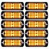10x Amber 20LED Car Truck Emergency Beacon Warning Hazard Flash Strobe Light Bar