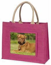 Dogue De Bordeaux Large Pink Shopping Bag Christmas Present Idea, AD-DB2BLP