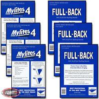 150 - E. GERBER FULL-BACK & MYLITES 4 SILVER & GOLDEN AGE Mylar 750FB/775M4