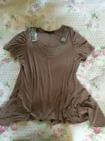 Beautiful David Emanuel Embellished Tunic Top-size 22 Mink Colour Immaculate