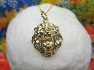 1 Löwenkopf  Anhänger Sterling Silber 925er vergoldet