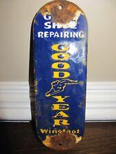 Old Good Year Shoe Repair Porcelain Door Push Sign