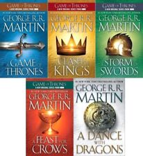 Game of Thrones 1-5 set George RR Martin PB lot A Song of Ice and Fire series