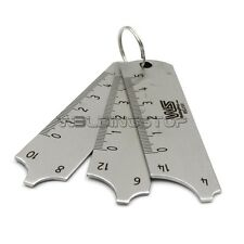 WS. Welding Gauge 3pcs key ring set MIG/TIG/STICK weld gage WSG-01041