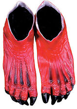 ADULT RED DEVIL DEMON MONSTER LATEX FEET COSTUME ACCESSORY DU971