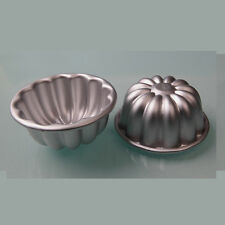 10 pcs Aluminum Alloy Cake Tart Chrysanthemum Flower Bowl Shape Mold Jelly Mould