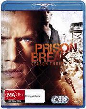 PRISON BREAK SEASON 3 BLU-RAY 4 DISC SET + Special Features FREE SHIPPING