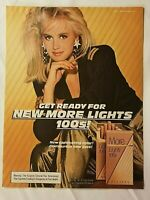 1984 Magazine Advertisement Page More Lights 100s Cigarettes Cute Woman Ad