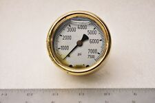 "Wika Instruments Pressure Gauge Analog Positive Rear Entry 7500 Psi 1/2"" Npt"