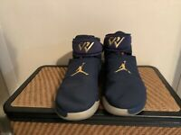 NIKE AIR JORDAN WHY NOT ZER0.1 WESTBROOK NAVY-METALLIC GOLD SZ 14 [AA2510-431]