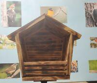 Beautiful, Handmade Dove Nesting House/Shelf w/Torched Finish & Engraved Design
