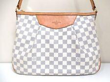 Authentic LOUIS VUITTON Damier Siracusa PM N41113 Azur Shoulder Bag MI5100