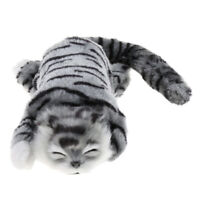 Lovely Rolling Laughing Plush Cat Plush Stuffed Animal Model Decor Kid Gift Grey