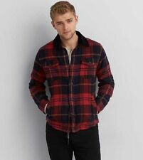 American Eagle Outfitters AEO AE Red Plaid Flannel Jacket Men's Medium NWOT
