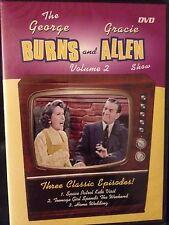 BURNS AND ALLEN SHOW VOL 2 [Slim Case] DVD NEW IN SHRINK WRAP 75 MIN DIGITAL
