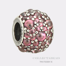 Authentic Pandora Silver Pink CZ Shimmering Droplet Honeysuckle Bead 791755HCZ