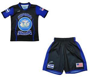 Arza Sports El Salvador Uniform for Kids Color Black and Blue