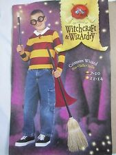 Crimsom Wizard Halloween Shirt w/Cape Costume - Boy's Size 7-10 - C82