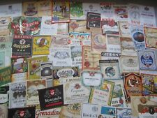 Lot of 70 Old 1930's-1950's European WINE & LIQUOR LABELS - All Different