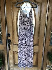 H&M -Maxi Dress - Animal Print - Tan (Large)