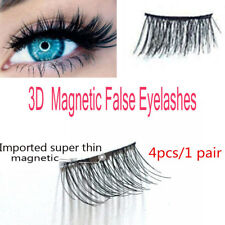 3D Strong Magnetic False Eyelashes Thinner Magnet Extension Eye Lashes 4pc/1pair
