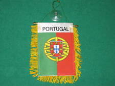 "PORTUGAL FLAG MINI BANNER 4""x6"" CAR WINDOW MIRROR NEW"