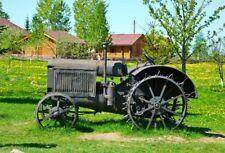 Vintage Tractor Backdrop Village Landscape Background Studio Photo Props 7x5ft