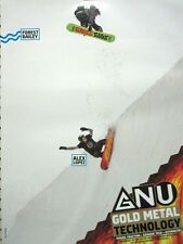 GNU snowboard 2014 FOREST BAILEY 2 sided promo poster Flawless New Old Stock