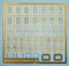RATIO 310 N SCALE Domestic Windows various designs on etched brass sheet